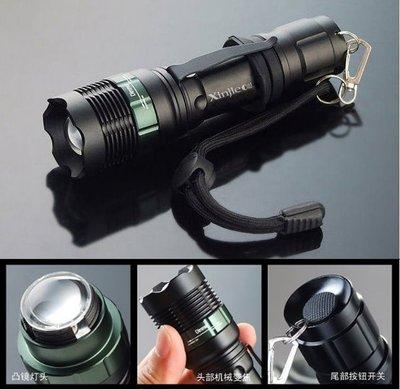 信捷【A21】新款 XPE Q5 LED 強光手電筒 機械旋轉變焦 使用18650鋰電池 工作 登山 露營燈