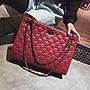 XINXIN女包大包韓版 時尚新款 日韓系列 迷人包 女生包包女新款菱格女包單肩包鉚釘鏈條包潮氣質時尚斜挎包