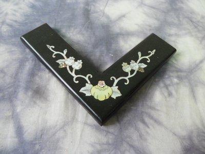 紫色小館-56--------百年黃花梨木鑲貝殼