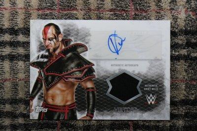 Viktor 2015 Topps WWE Undisputed 摔角選手 世界冠軍 精美實戰衣物簽名卡