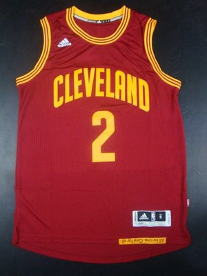 SW版 Cleveland Cavaliers騎士隊#2號Kyrie Irving厄文 酒紅 熱壓 情侶款 籃球衣背心