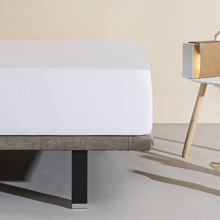 TWIN SIZE 150X200公分-白色純棉床包式保潔墊/西班牙Velfont進口/專利防水隔離層【兔寶寶部屋】