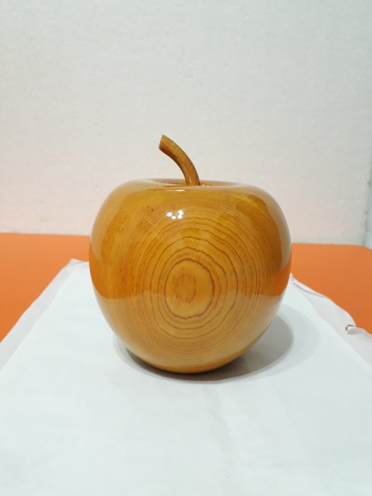 【九龍藝品】精選檜木 ~ 蘋果聚寶盆 ~ 寬約12公分 ( S10 )