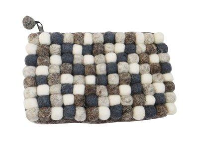 全新 手創 羊毛氈 設計師小包 化妝包 零錢包 手拿包 19x12x3cm
