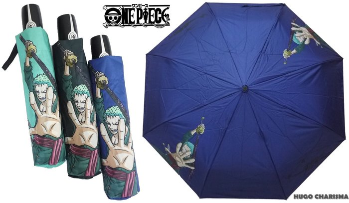 航海王ONEPIECE 索隆ZORO 內層銀膠自動開收傘摺疊傘晴雨傘自動傘抗UV 海賊王