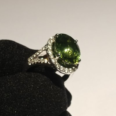 綠碧璽介子 Green tourmaline Ring