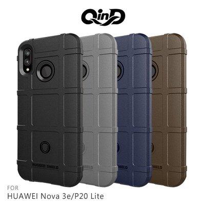 --庫米--QinD HUAWEI Nova 3e/P20 Lite 戰術護盾保護套 防摔殼 TPU套 手機殼