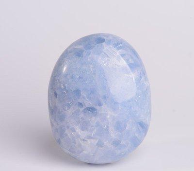天然天青石原石擺件 手把件水晶把玩礦石玩耍石