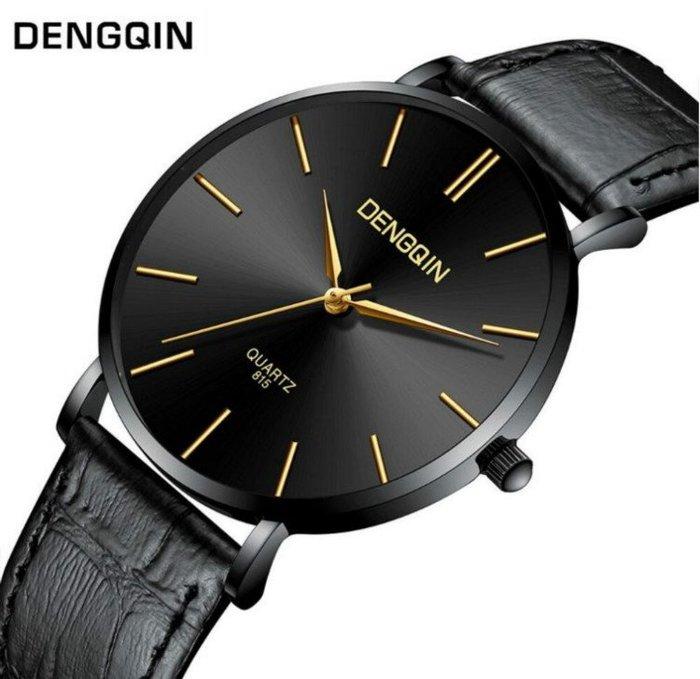 DENGQIN 正品 簡約主義 以簡為美 經典超薄時尚型男石英錶 男女適戴錶款 情人 送禮