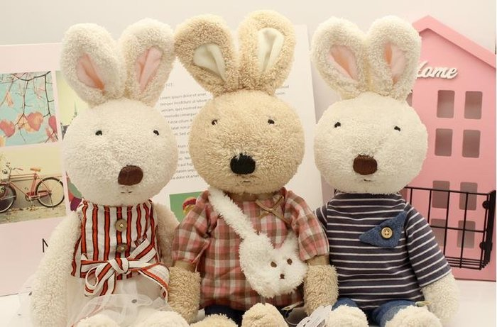 紫滕戀推出可愛砂糖兔小兔子毛絨玩具布娃娃玩偶禮物 30CM下標區之二 多款