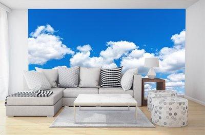客製化壁貼 店面保障 編號F-362 白雲藍天 壁紙 牆貼 牆紙 壁畫 星瑞 shing ruei