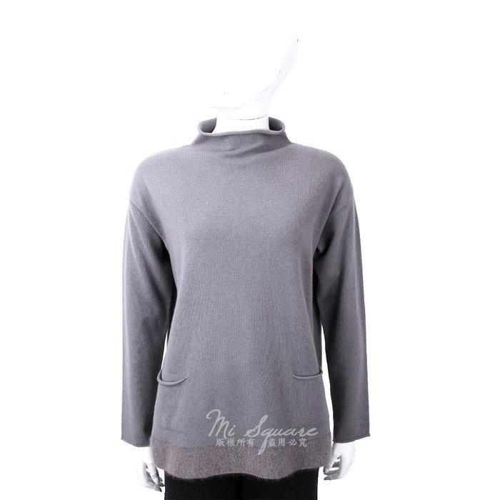 米蘭廣場 FABIANA FILIPPI 馬海毛捲邊立領灰色美麗諾羊毛衫 1810034-D7