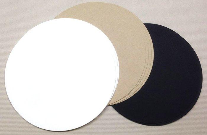 """圓形美術卡紙 (直徑4.6"""")(20張)"""