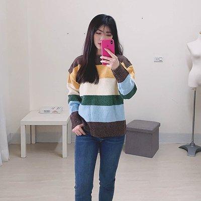 【ZEU'S】寬鬆拼色針織衫『 02120906 』【現+預】A