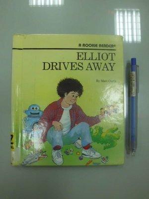 6980銤:A8-3☆1996年『ELLIOT DRIVES AWAY』原文 英文童書繪本