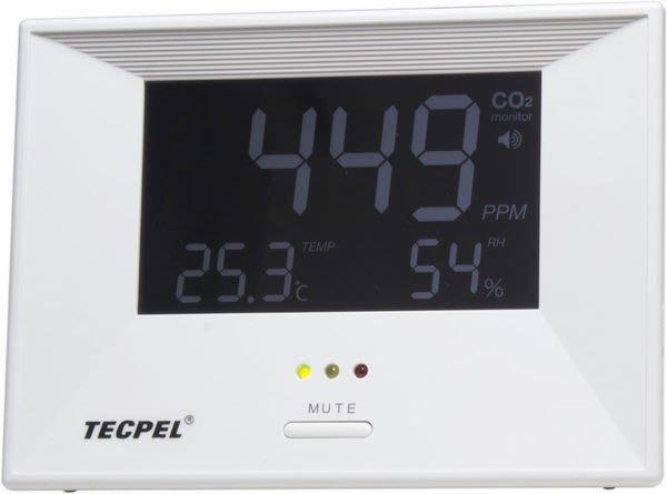 TECPEL 泰菱 》二氧化碳偵測器 ZG-1683R CO2 監測儀 二氧化碳 居家安全 濕度 溫度 背光