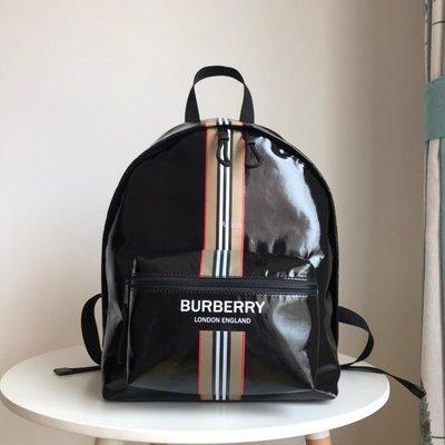 Alina 精品代購Burberry 巴寶莉 英倫都會時尚 帥氣專屬條紋後背包 outlet代購