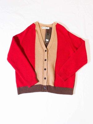 MARNI Knitted wool coat. 紅色 針織 毛衣 外套
