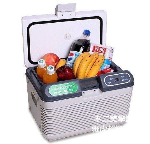 【格倫雅】^科敏12L雙制冷迷你車載冰箱 家用迷你小冰箱 車家兩用胰島素冰箱37171