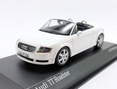 【秉田屋】現貨 Minichamps Audi 奧迪 TT Roadster Mk1 白 1/43