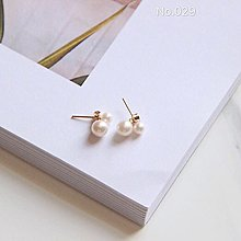 手工天然淡水珍珠簡約小格調兩戴式耳環