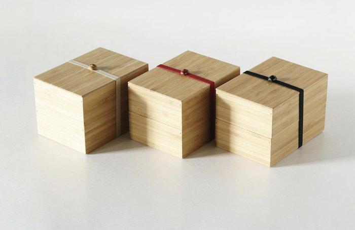 發現花園 日本選物 ~日本製 公長齋小菅-- 竹製 長方型 雙層 便當盒 小判 - 紅豆 / 黑豆