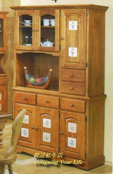 【設計私生活】聖馬丁磁磚實木4尺餐櫃、碗盤櫥櫃(全館免運費)256