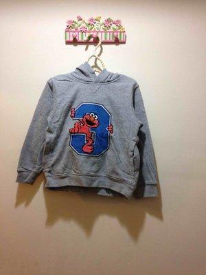 二手商品 ~ H&M 芝麻街灰色帽T