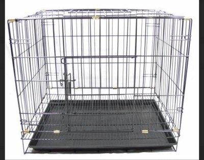 寵物用品批發 2尺鐵籠 全新 活動折疊式(密底腳踏網)二尺靜電粉體烤漆籠 狗籠 貓籠 寵物籠二呎2呎 台北市