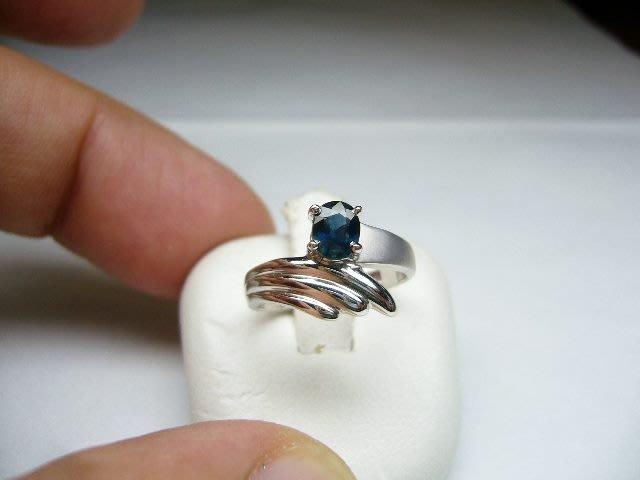 [吉宏精品交流中心]48分 天然藍寶石 白K金 造型 戒指