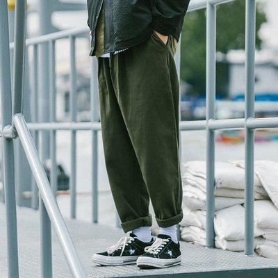 褲子 休閒褲 牛仔褲 工裝褲BDCT 日系潮牌口袋工裝闊腿褲 春季純色寬松青年直筒休閑褲潮褲