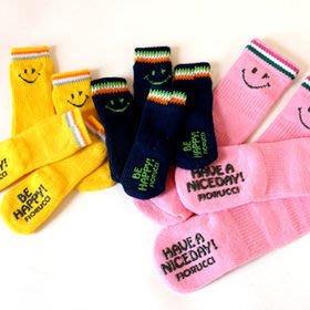 貝果貝果 日本pet paradise 可愛微笑 防滑小襪襪 [A797]
