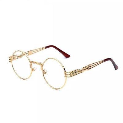 【Result】復古金框彈簧圓眼鏡 Wiz khalifa TGMF YZ著用