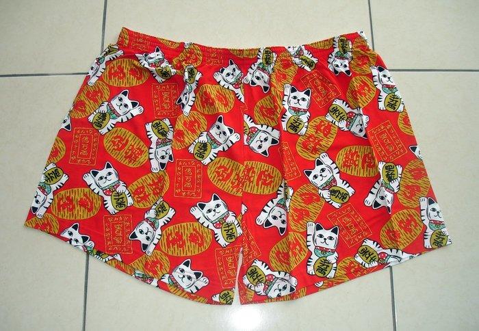 短褲台灣製紅螞蟻平口褲100% 高級棉 4XL、5XL-編號 0008