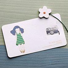 【象牙cute ta】韓國 Bookfriends girl's summer _ Smile 書的朋友書籤  夏日的微笑
