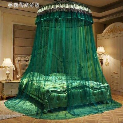 免運~蚊帳 圓頂吊頂蚊帳公主風宮廷1.5米1.8m1.2床幔圓形單雙人家用免安裝 【卓越名坊】