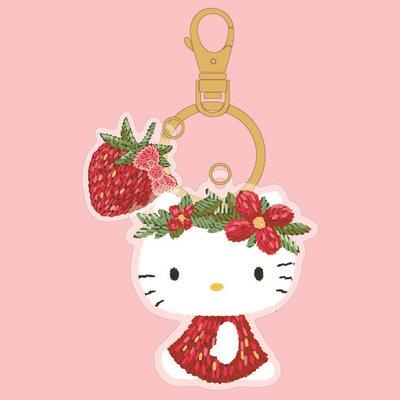 SANRIO HELLO KITTY三麗鷗凱蒂貓草莓花圈造型悠遊卡