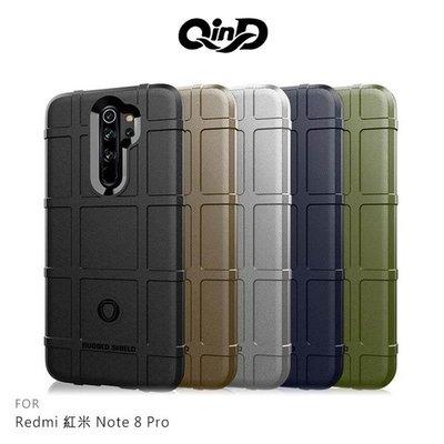 【愛瘋潮】QinD Redmi 紅米 Note 8 Pro 戰術護盾保護套 背蓋 TPU套 手機殼 保護殼 鏡頭保護