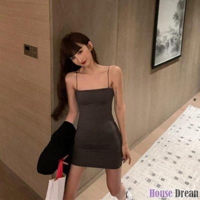 包臀裙 緊身性感包臀吊帶裙子夏季2020新款收腰洋裝女法式氣質短裙
