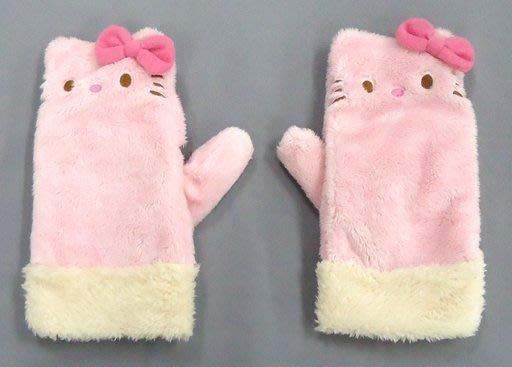 造型手套 現貨 免運費 日本限定 粉紅大臉 可露指 KITTY 凱蒂貓 三麗鷗 保暖手套 小日尼三 情人節禮物精選
