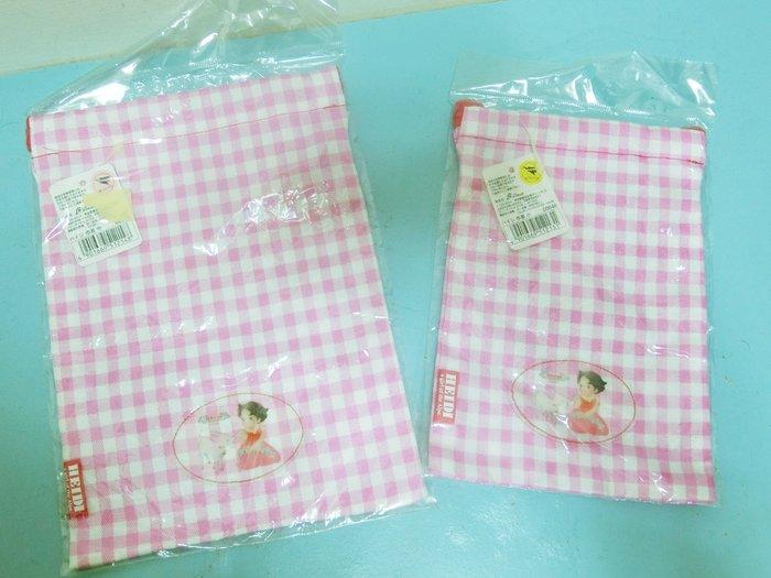 絕版!日本帶回 阿爾卑斯山的少女海蒂 宮崎駿的「小天使」Heidi 平日束口袋 化妝包 日本製
