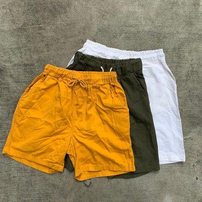 【inSAne】韓國購入 / 鬆緊 / 抽繩 / 休閒短褲 / 單一尺寸 / 白 & 黃 & 紅 & 藍 & 灰 & 米
