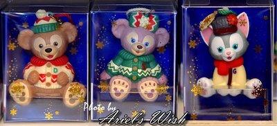 Ariels Wish-日本東京迪士尼聖誕節Duffy達菲熊雪莉玫畫家貓咪傑拉東尼針織毛衣聖誕樹掛飾吊飾品交換禮物絕版
