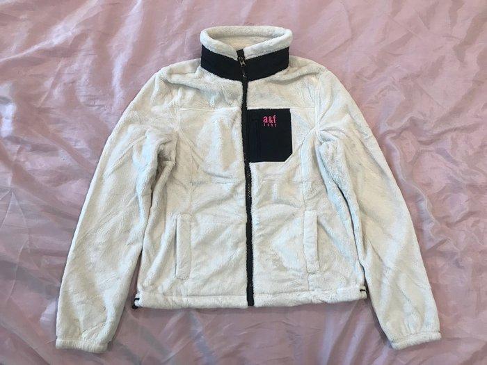 【天普小棧】abercrombie Kids mountain fleece jacket熊寶寶柔棉立領外套乳白XL號