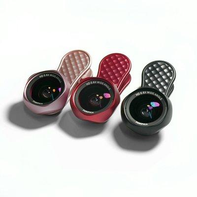 LIEQI F-520 FUNIPICA 玫瑰花型 HD高清 無變形 手機鏡頭 0.6X廣角鏡頭 15X微距鏡頭