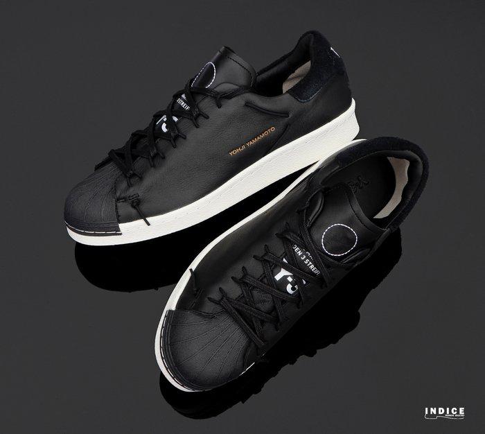 INDiCE ↗ Adidas Y-3 Super Knot CG6082 皮革運動休閒鞋 黑色/白色
