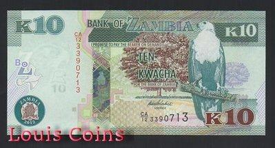 【Louis Coins】B557-ZAMBIA--2012尚比亞紙幣10 Kwacha 台北市