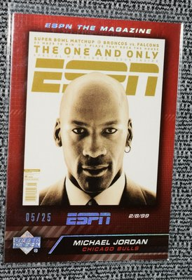 UD 限量25張 ESPN THE MAGAZINE MICHAEL JORDAN MAG-MJ2