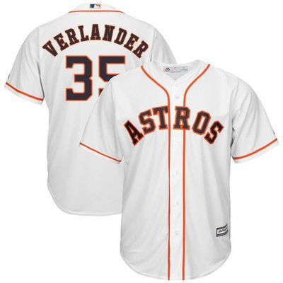 Justin Verlander Majestic White Cool Base Player Jersey