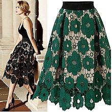 A字裙 半身裙 速賣通亞馬遜ebay新款外貿歐美風蕾絲半身裙NA57B-7192   胖胖美依